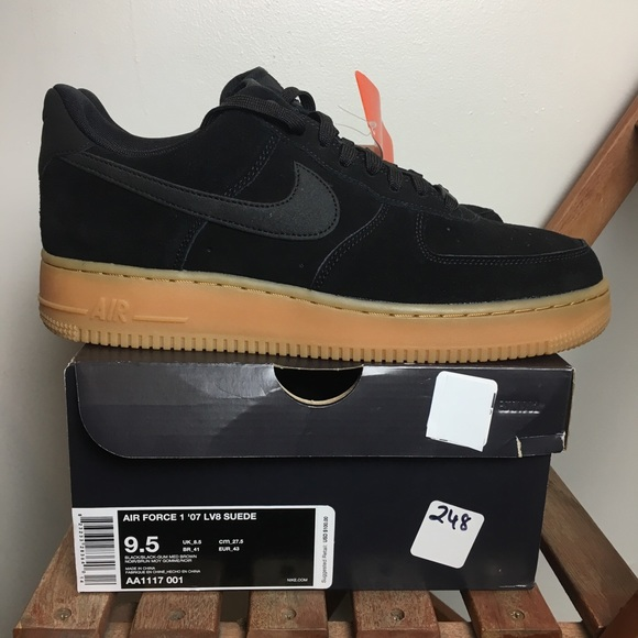 online retailer d222e ee324 NEW Nike Air Force 1  07 LV8 Suede Black Gum